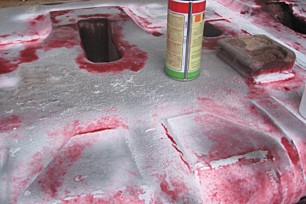 Капиллярный метод контроля трещин - ковш
