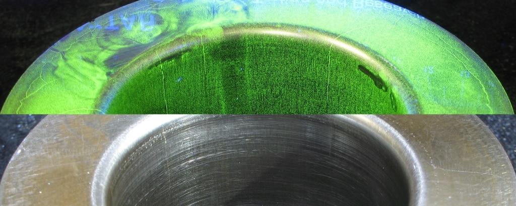 сравнение: магнитные частицы и визуальный контроль