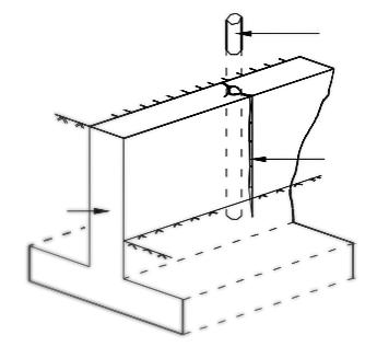 Заделка трещин в бетоне метод ключа