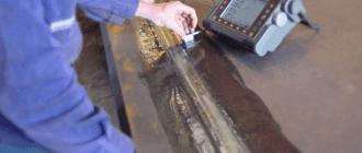 Проверка сварного шва ультразвуком