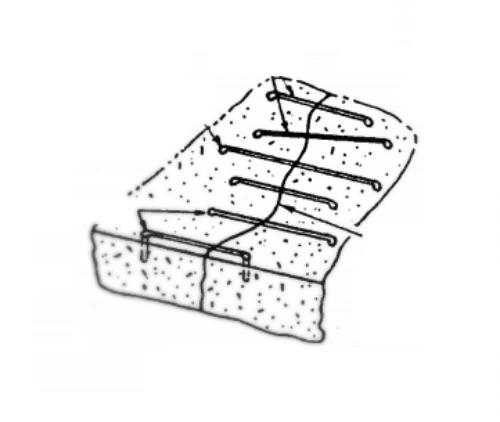 Заделка трещин в бетоне метод сшивание скобами