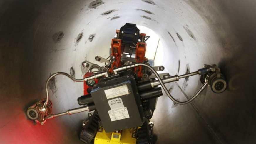 Контроль технологических трубопроводов роботами