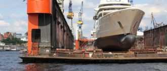 Ремонт кораблей и судов с импульсным вихревым током